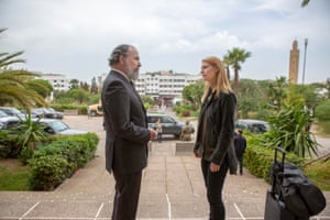 Mandy Patinkin as Saul Berenson and Claire Danes as Carrie Mathison in season eight of Homeland.