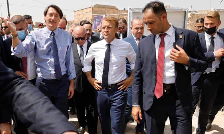 Emmanuel Macron in Mosul, Iraq