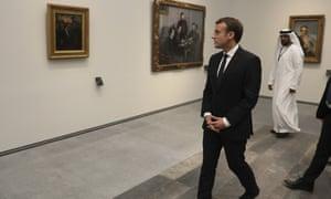 Emmanuel Macron in the Louvre Abu Dhabi.