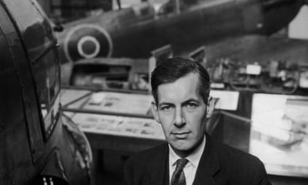 Noble Frankland in 1961 with some of the aircraft held by the Imperial War Museum.