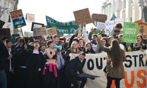 "Climate emergency protest in Brighton. According to the National Union of Students (NUS), 91% of students are now ""fairly or very concerned"" about the issue."
