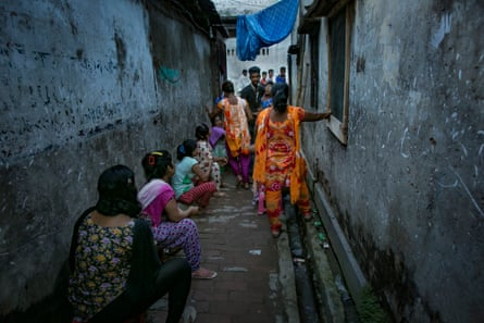 Girls wait for customers in Jessore brothel.