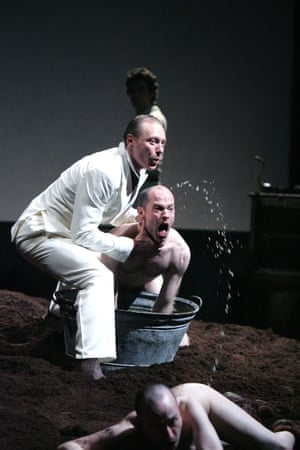 'The floor is covered with ochre-coloured mud' … The Bull by Fabulous Beast Dance Theatre, 2007.