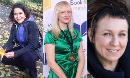 'A matter of trust' … Translators Antonia Lloyd‑Jones, left, and Jennifer Croft, middle, and novelist Olga Tokarczuk.