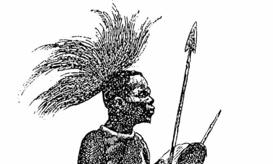 A drawing of 'El Negro' on display in the Darder museum, Banyoles.