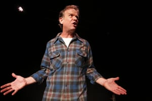 Donald Sage Mackay plays titular character Angry Alan 'with butter-wouldn't-melt amiability' writes Mark Fisher of Penelope Skinner's new show, at Underbelly Cowgate