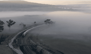 The Indian Pacific as it enters New South Wales.