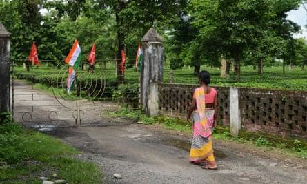 Closed gates of Dagapur Tea Garden