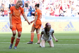 Rose Lavelle celebrates her goal for the US in last year's World Cup final