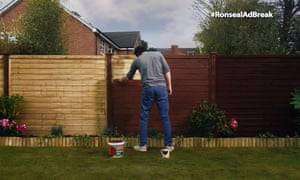 A still from the three-minute Ronseal fence-painting ad.