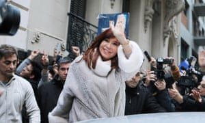 Cristina Kirchner after a meeting with presidential candidate Alberto Fernandez in Buenos Aires last week.