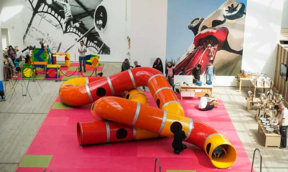 The Lozziwurm is among the exhibits at The Playground Project at the Baltic arts centre, Gateshead.
