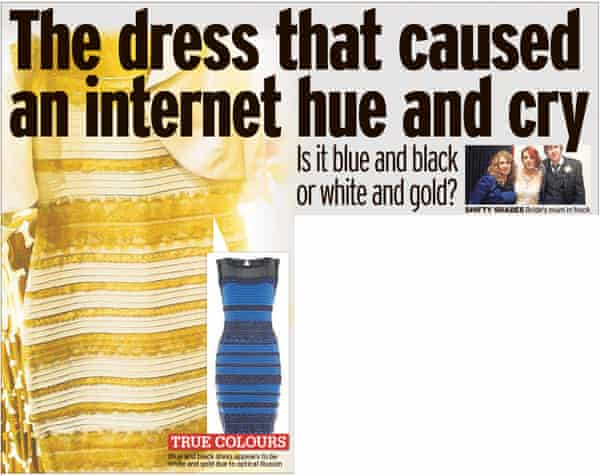 Daily Mirror article about #TheDress