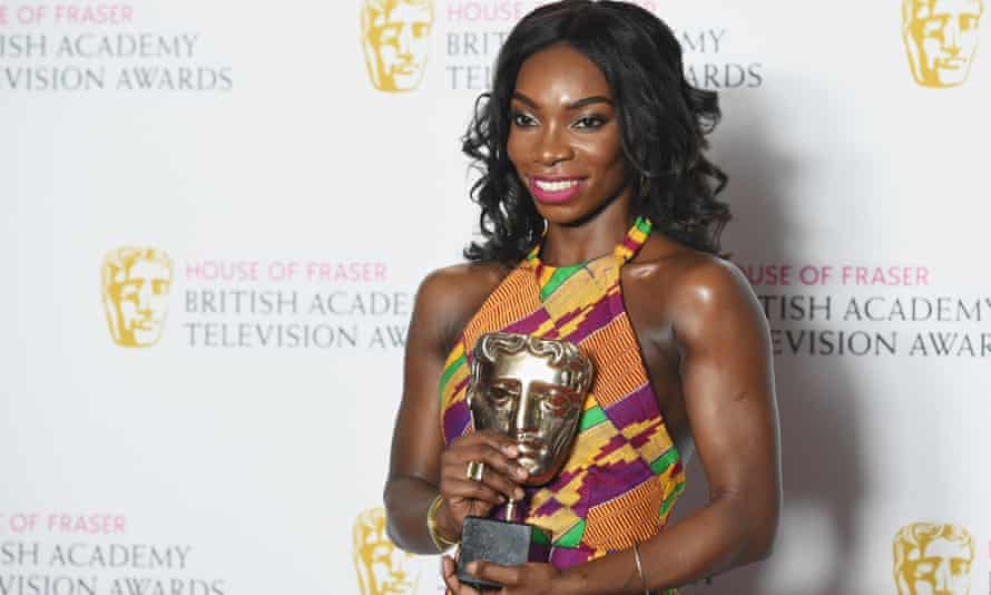 Coel with her breakthrough talent Bafta TV award for Chewing Gum in 2016.
