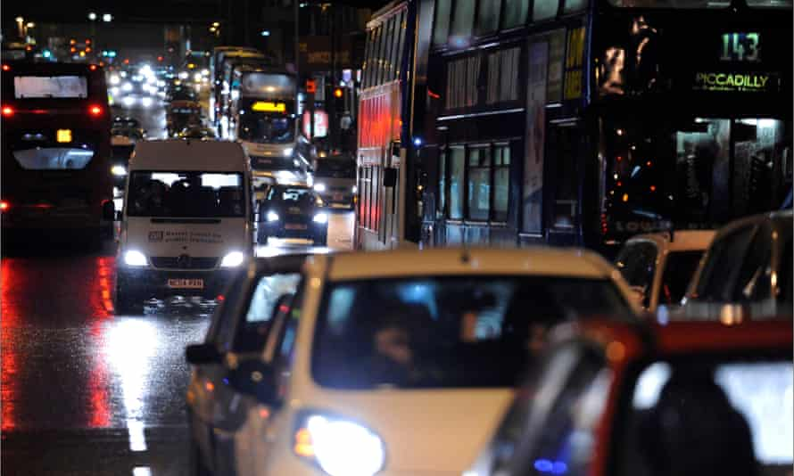 Traffic in central Manchester