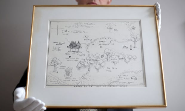 Original Winnie-the-Pooh Map Sets World Record At Auction by Sian Cain for The Guardian