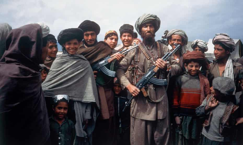 Mujahideen fighters at a border camp near Wanat, Afghanistan, April 1984