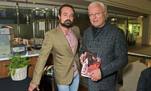 Evgeny Lebedev and Alexander Lebedev at the launch of Alexander's book Hunt the Banker: The Confessions Of A Russian Ex-Oligarch