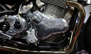 A Norton Commando 961 SF motorbike, produced by Norton Motorcycles.