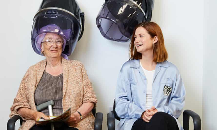 Wright with customer Helen Maddison at Sincil Salon.