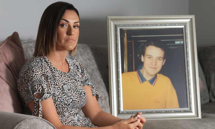 Claire Monteith with a photo of her brother Alan, who was killed in the bombing.