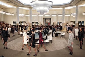 The casino set at the Chanel couture show.
