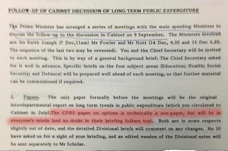 Follow up of Cabinet Discussion of Long Term Public Expenditure - Ragout