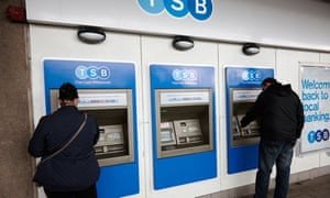 TSB customers using ATM machines this week.