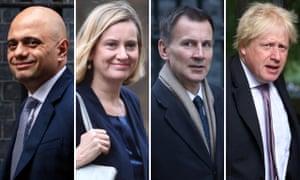 Sajid Javid, Amber Rudd, Jeremy Hunt and Boris Johnson