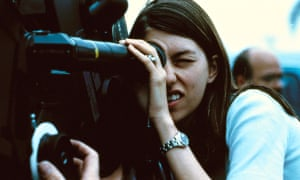 Sofia Coppola on the set of The Virgin Suicides in 1999.