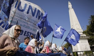 The Mothers of Plaza de Mayo march for justice. The ruling will benefit 350 former military officers currently serving sentences for crimes against humanity.