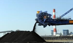 Coal at an Adani plant
