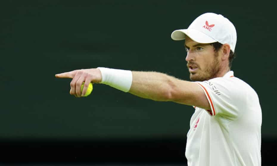Andy Murray during his second round victory over Oscar Otte at Wimbledon on Wednesday.