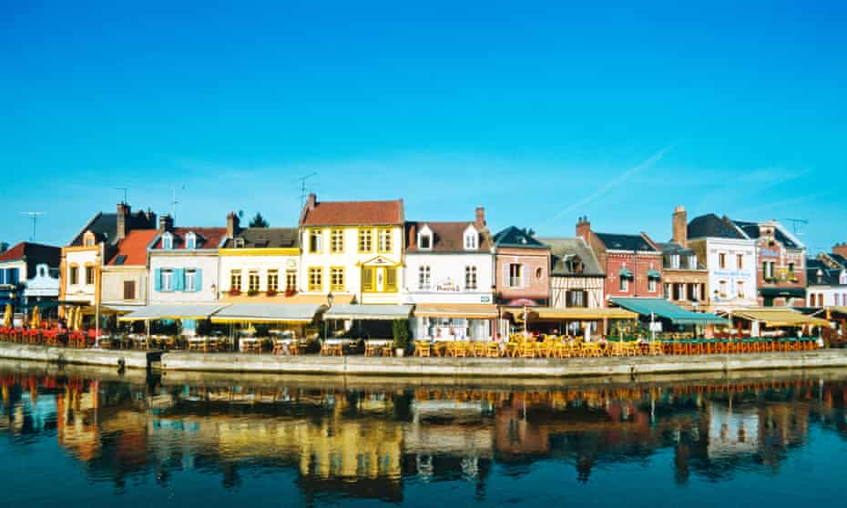 The canalside Saint-Leu district of Amiens