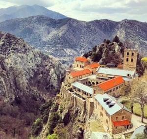 Abbey of Saint-Martin-du-Canigou, French Pyrenees