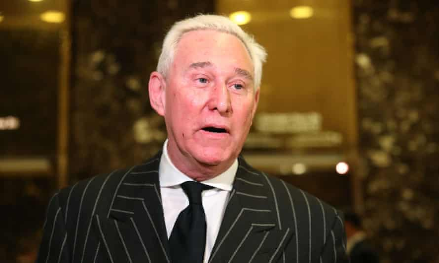 Roger Stone speaks to the media at Trump Tower on 6 December 2016 in New York City.