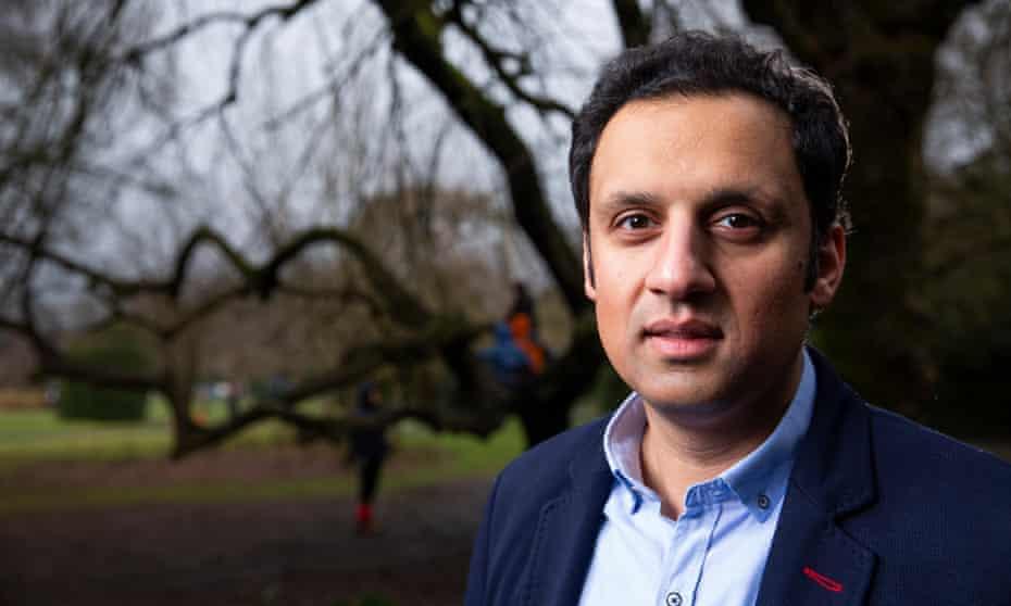Anas Sarwar in Maxwell Park, Glasgow