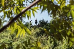 Armed guards patrol land in Honduras