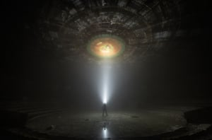 Bulgaria The Buzludzha monument explored at night. The crumbling tribute to the formation of the Bulgarian Social Democratic party in 1891 is on the top of the Buzludzha mountain, which was the scene of a battle between Bulgarian nationalists and Ottoman forces