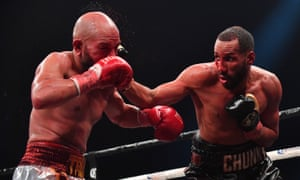 DeGale lands a right on Caleb Truax during his win over the American last year.