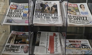 Newspapers are seen displayed for sale in London, on 28 March 2017.