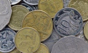 Stock image of Australian coins