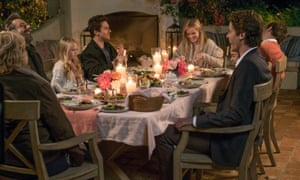 a dining scene with reese witherspoon and others in home again