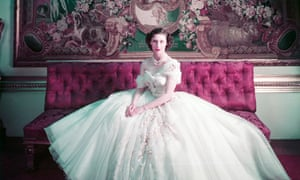 Princess Margaret in the Dior-designed tulle gown he created for her 21st birthday.