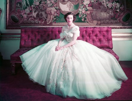 Cecil Beaton's photograph of Princess Margaret in a Dior dress for her 21st birthday.