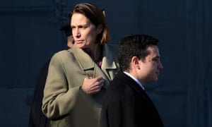 Fiona Hill leaves the US Capitol on 4 November 2019.