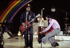 Bo Diddley and Chuck Berry in concert 12 April 1974.