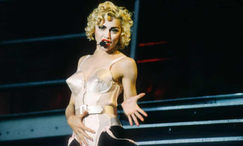 Madonna on the Blond Ambition Tour.