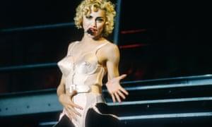 Madonna at Feyenoord Stadion, Rotterdam in 1990.