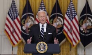 Joe Biden speaks at the White House.